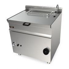 Brasiera A Gas con Sollevamento Manuale Capacità 80 Lt. Profondità 90 cm