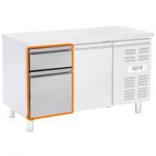 Immagine Supplemento 2 Cassetti 1/3 e 2/3 Per Tavoli Refrigerati Serie ECHTF