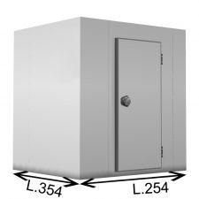 Cella Frigorifera Positiva (0°C/+10°C) Senza Motore Con Pavimento 254 x 354 x 214 H Cm