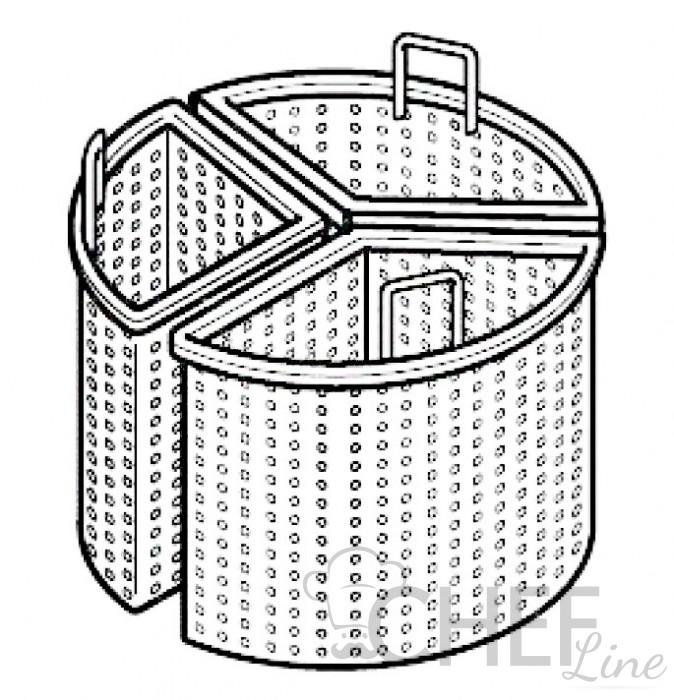 Cesti 1/3 per pentole 100 litri Profondità 90 Chefline