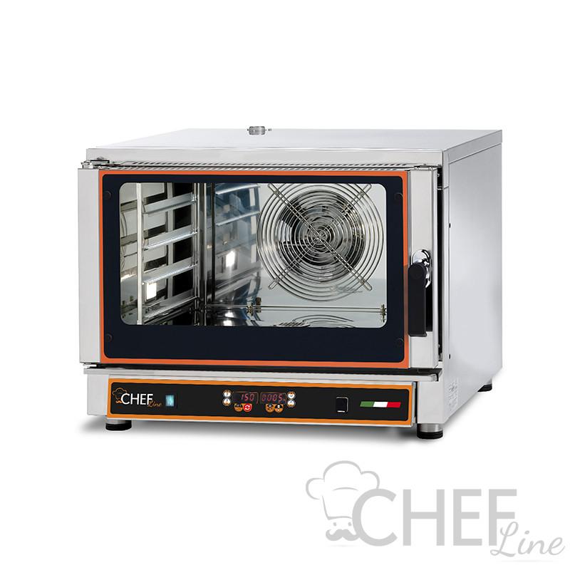 Forno Elettrico Ventilato Professionale a Vapore 4 Teglie