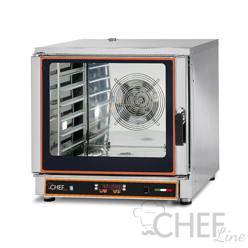 Forno Elettrico Ventilato Professionale a Vapore 6 Teglie