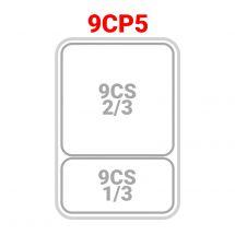 1 cestello 2/3 + 1 cestello 1/3 per cuocipasta serie 90