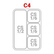 1 Cestello 1/2 + 3 Cestelli 1/6 per cuocipasta serie 70