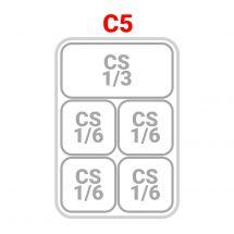 1 Cesto 1/3 + 4 Cesti 1/6 per cuocipasta serie 70