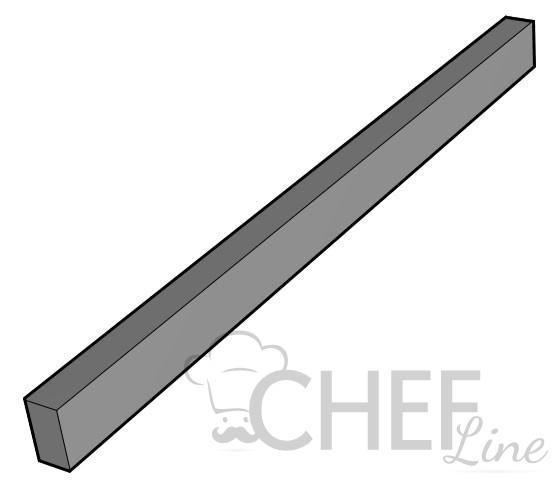 Coprigiunto per cucine professionali Chefline (barretta di acciaio per coprire spazio tra 2 mobili)