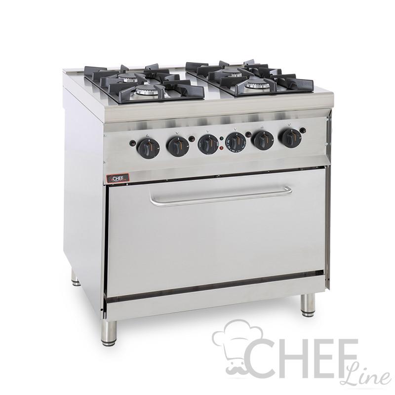 Cucina professionale 4 Fuochi passante Angelo Po
