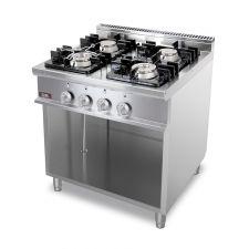 Cucina Professionale 4 Fuochi Profondità 70 cm
