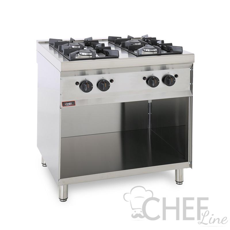 Cucina Professionale A Gas 4 Fuochi