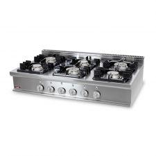 Cucina Professionale 6 Fuochi Banco Profondità 70 cm