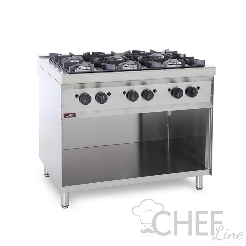 Cucina Professionale A Gas 6 Fuochi