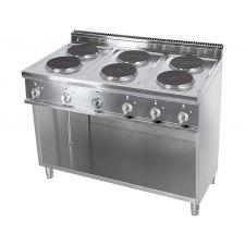 Cucina Elettrica Professionale 6 Piastre Tonde Profondità 70 cm