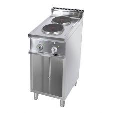 Cucina Elettrica Professionale 2 Piastre Tonde Profondità 70 cm