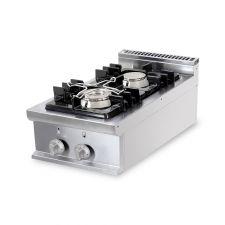 Cucina Professionale A Gas 2 Fuochi Da Banco Profondità 70 cm