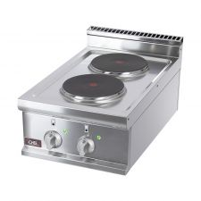 Cucina Elettrica Professionale 2 Piastre Tonde Banco Profondità 70 cm
