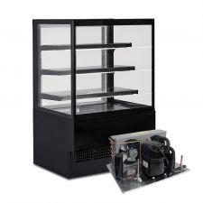 Espositore Refrigerato EVOK 150 +2°C/+4°C Nero Motore Remoto