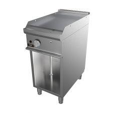 Fry Top A Gas Su Mobile Con Piastra Liscia Profondità 70 cm