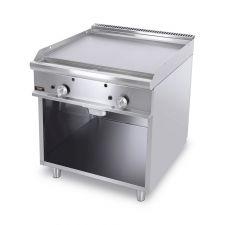 Fry Top A Gas Su Mobile Con Piastra Doppia Liscia Profondità 70 cm