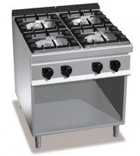 Cucina Professionale 4 Fuochi High Power Profondità 90