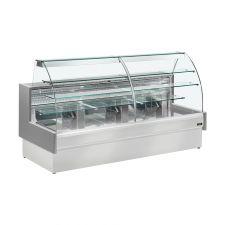 Banco Pasticceria Como Statico Con Cassettone Scorrevole e Vetri Curvi Profondità 98 cm +4°C/+6°C