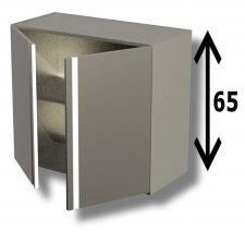 Pensile In Acciaio Inox AISI 304 Porta Battente Con 1 Ripiano Altezza 65 cm