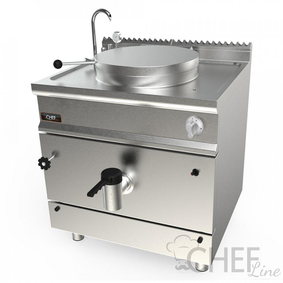 Pentola A Gas Professionale 139/150 Litri Profondità 90 cm