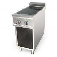 Cucina A Induzione Professionale 2 Zone Cottura Profondità 70 cm