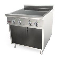 Cucina A Induzione Professionale 4 Zone Cottura Profondità 70 cm di Chefline