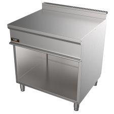 Piano Inox Neutro 80 Cm Doppio Per Cucina Professionale Profondità 70 cm