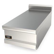 Piano Inox Neutro Da Banco Per Cucina Professionale Profondità 90 cm