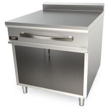 Piano Neutro Su Mobile Doppio Con Cassetto Per Cucina Professionale Profondità 90 cm