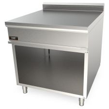 Piano Neutro Su Mobile Doppio Per Cucina Professionale Profondità 90 cm