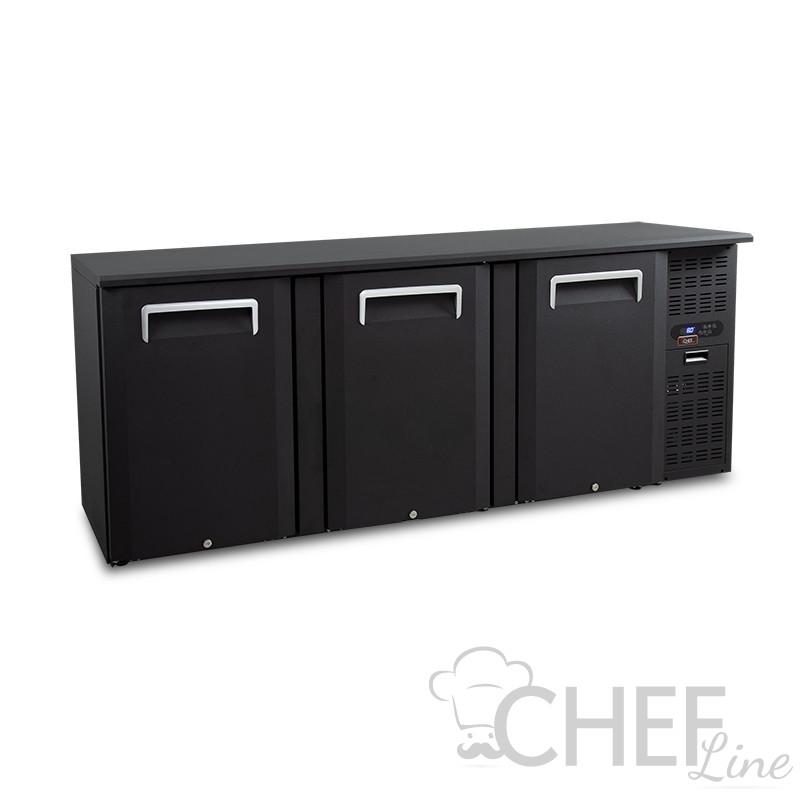 Retrobanco Refrigerato 500 Litri Con Porte Battenti Chefline