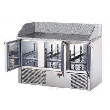 Saladette 3 Porte Piano in Granito Con Alzata