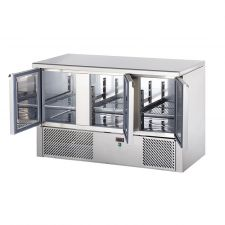 Saladette 3 Porte Piano Inox