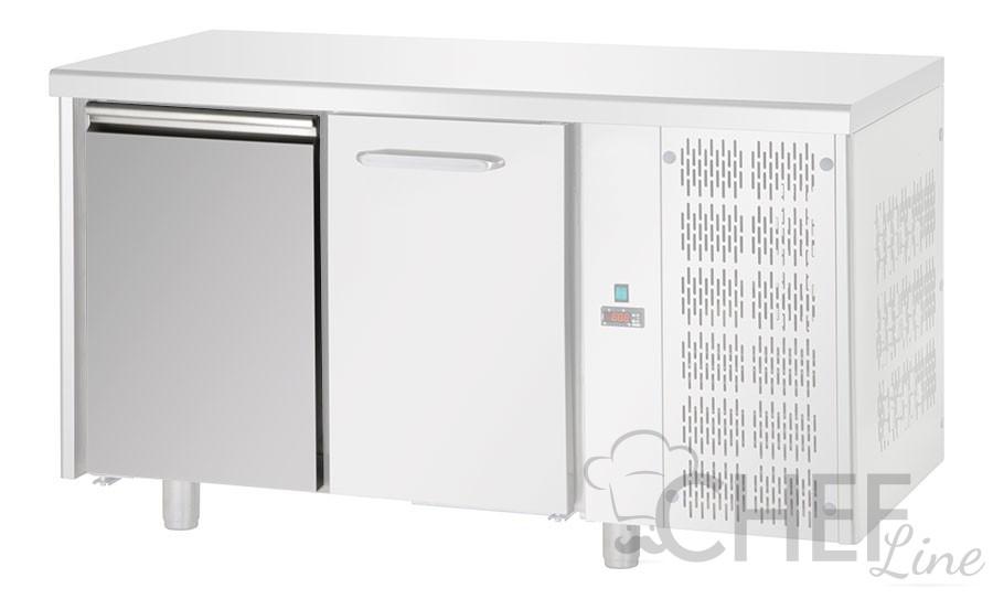illustrazione di tavolo frigo con una porta mid e una porta eko
