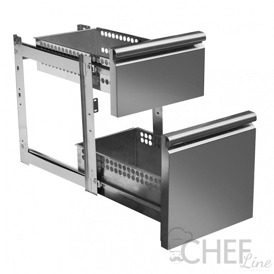 Immagine Supplemento 2 Cassetti 1/3 e 2/3 Per Tavoli Refrigerati