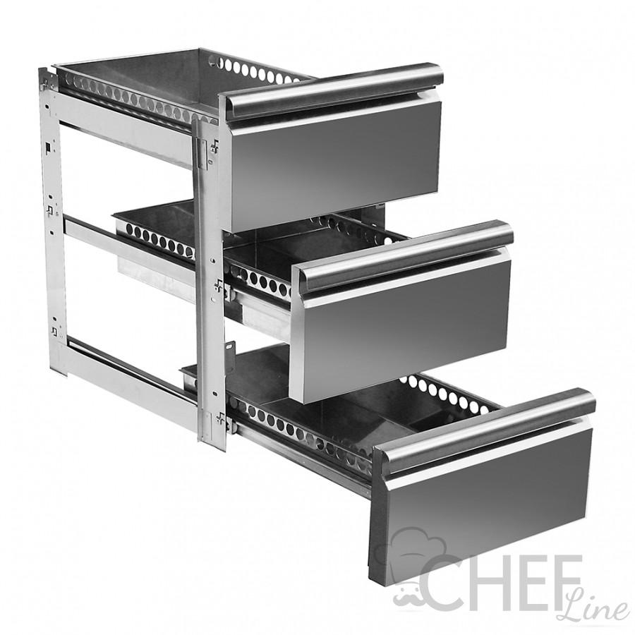 Immagine Supplemento 3 Cassetti 1/3 Per Tavoli Refrigerati