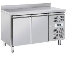 Immagine Tavolo Frigo Professionale Chefline 2 Porte Profondità 60 Con Alzatina