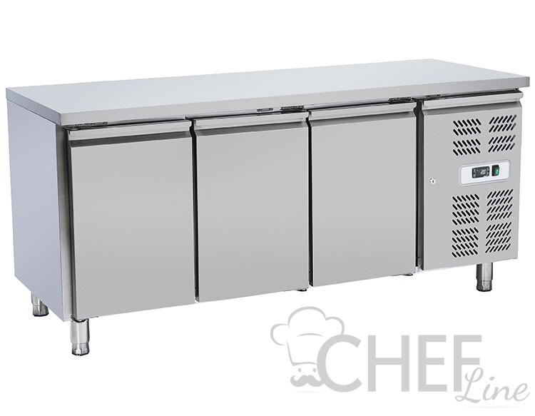 Tavolo refrigerato professionale chtf3psk chefline - Tavolo profondita 60 cm ...
