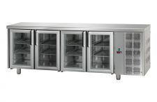 Immagine tavolo frigo porte a vetro senza piano TF4MIDPVSP Chefline