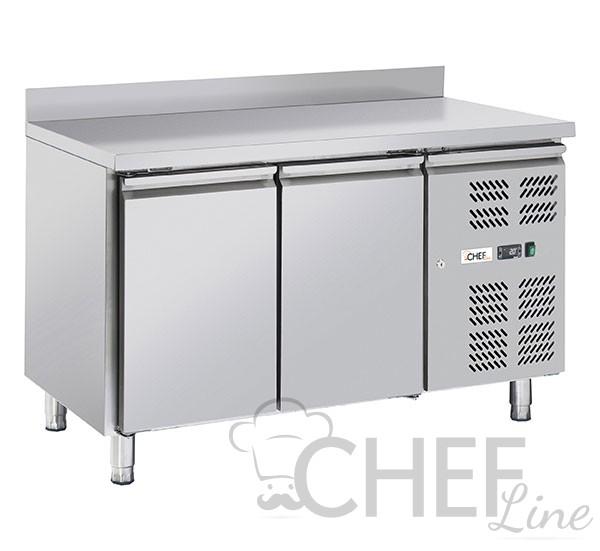 Immagine Tavolo Frigo Professionale Chefline 2 Porte Con Alzatina