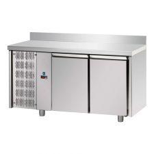 Tavolo Refrigerato 2 Porte Con Piano e Alzatina 10 Cm Pr. 70 cm Motore Sinistro