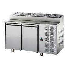 Tavolo Refrigerato 2 Porte Con Piano Snack GN 1/1 Pr. 70 cm