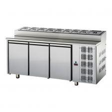 Tavolo Refrigerato 3 Porte Con Piano Snack GN 1/1 Pr. 70 cm