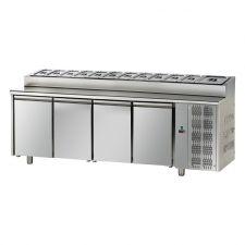 Tavolo Refrigerato 4 Porte Con Piano Snack GN 1/1 Pr. 70 cm