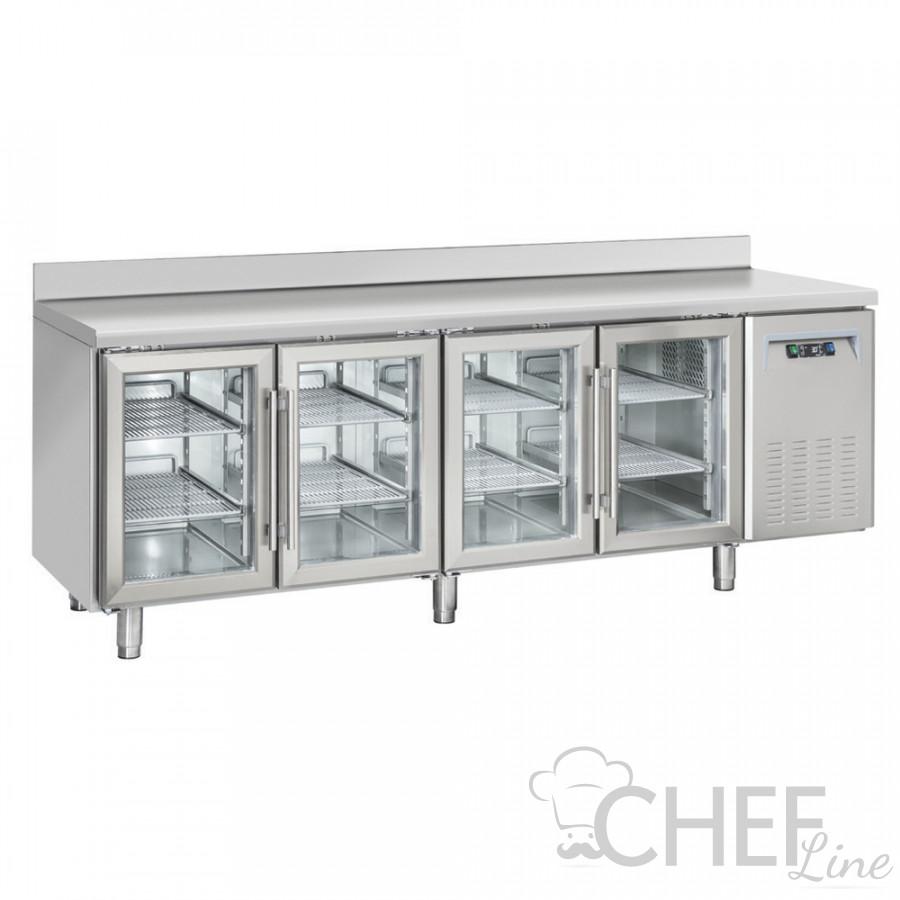 Tavolo Refrigerato Professionale Porte In Vetro ECHTF4PAL ...