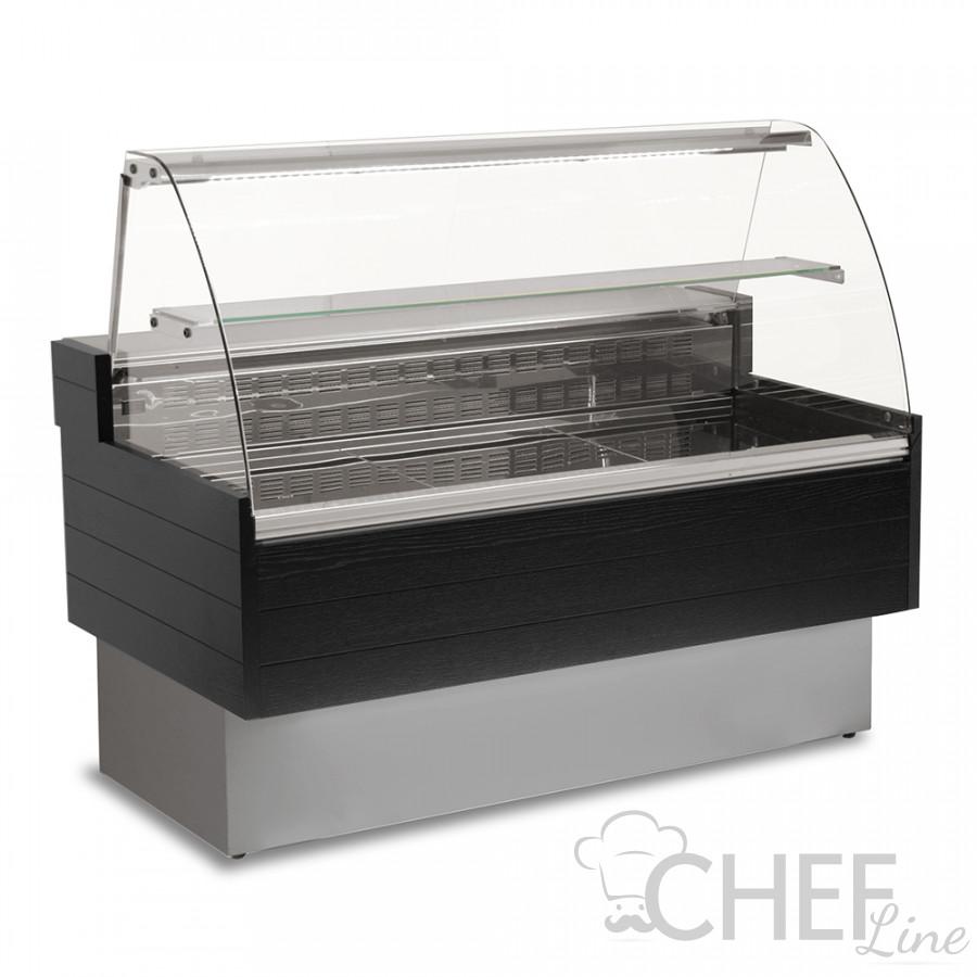 Banco Refrigerato Semi-ventilato Kibuk Nero + Scorrevoli + Mensola