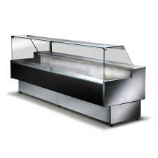 Banco Frigo Alimentari Nero Semi Ventilato Vetri Dritti 200x114 cm Frontale Alto