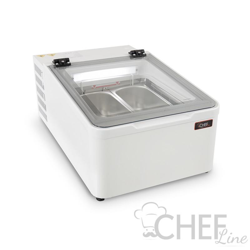Vetrina Gelato Da Banco 2 Gusti Vasche Da 5 Litri -10°C/-22°C